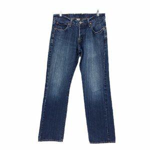 Lucky Brand Mens Jeans Size 31 Straight Leg Dark
